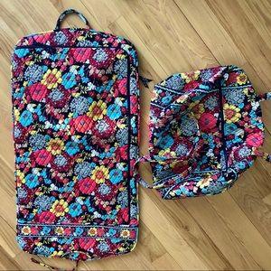 BUNDLE Vera Bradley Large Tote & Garment Bag